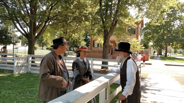 Interacting with other historical characters