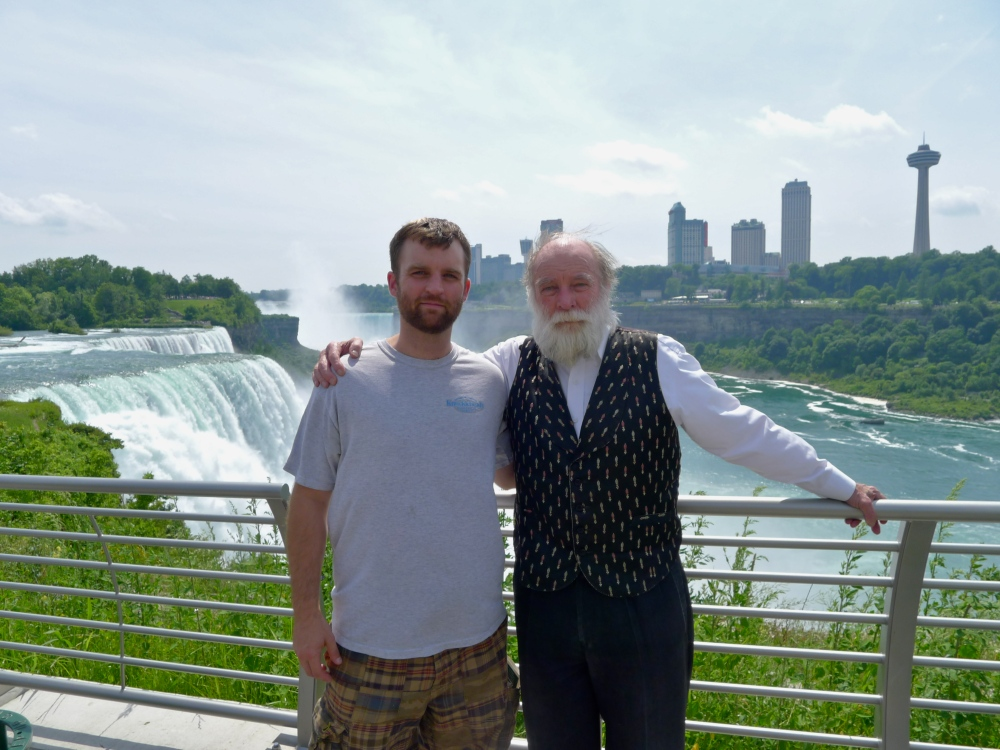 Matt Wright and Gerry Wright at Niagara Falls