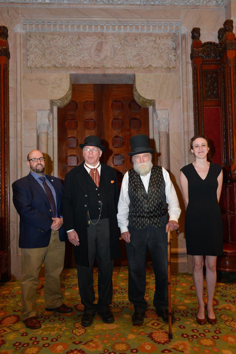 Mark Castiglione, Stuart Lehman, Fred, and Bevin Collins