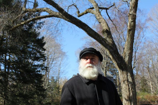 Gerry at the FLO National Historic Site under the 'Olmsted Elm' in 2011